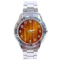 SHINY STRIATED PANEL Stainless Steel Men s Watch