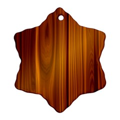 Shiny Striated Panel Snowflake Ornament (2 Side)