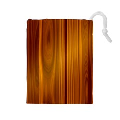 Shiny Striated Panel Drawstring Pouches (large)