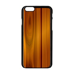SHINY STRIATED PANEL Apple iPhone 6/6S Black Enamel Case