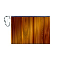 SHINY STRIATED PANEL Canvas Cosmetic Bag (M)