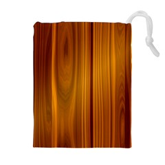 Shiny Striated Panel Drawstring Pouch (xl)