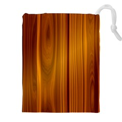Shiny Striated Panel Drawstring Pouch (xxl)
