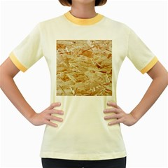 Osb Plywood Women s Fitted Ringer T Shirts