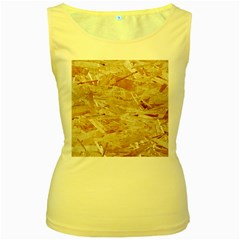Osb Plywood Women s Yellow Tank Tops