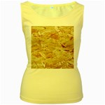 OSB PLYWOOD Women s Yellow Tank Tops Front