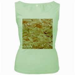 Osb Plywood Women s Green Tank Tops