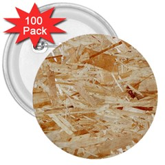 Osb Plywood 3  Buttons (100 Pack)
