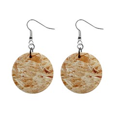 Osb Plywood Mini Button Earrings
