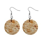 OSB PLYWOOD Mini Button Earrings Front