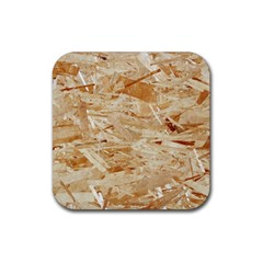 Osb Plywood Rubber Square Coaster (4 Pack)