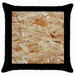 Osb Plywood Throw Pillow Cases (black)