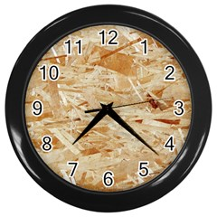 Osb Plywood Wall Clocks (black)