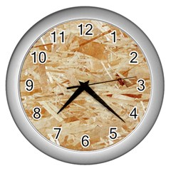 Osb Plywood Wall Clocks (silver)