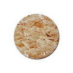 OSB PLYWOOD Rubber Round Coaster (4 pack)  Front