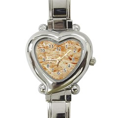 Osb Plywood Heart Italian Charm Watch