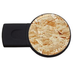 Osb Plywood Usb Flash Drive Round (4 Gb)