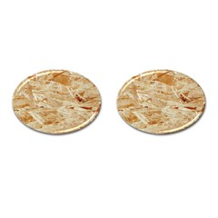 Osb Plywood Cufflinks (oval)