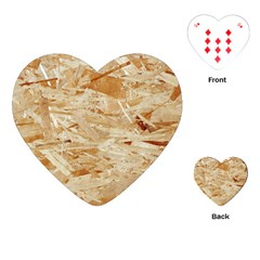 Osb Plywood Playing Cards (heart)
