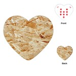 OSB PLYWOOD Playing Cards (Heart)  Front