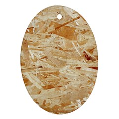 Osb Plywood Oval Ornament (two Sides)