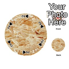 Osb Plywood Playing Cards 54 (round)