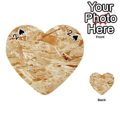 Osb Plywood Playing Cards 54 (heart)