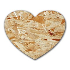 Osb Plywood Heart Mousepads