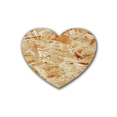 Osb Plywood Rubber Coaster (heart)