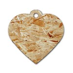 OSB PLYWOOD Dog Tag Heart (One Side) Front