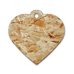 Osb Plywood Dog Tag Heart (two Sides)