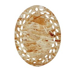 OSB PLYWOOD Oval Filigree Ornament (2-Side)