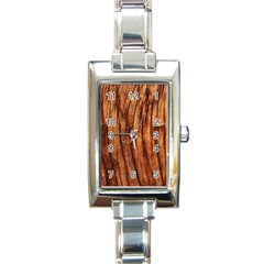 Old Brown Weathered Wood Rectangle Italian Charm Watches