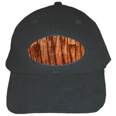 Old Brown Weathered Wood Black Cap