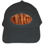 OLD BROWN WEATHERED WOOD Black Cap Front