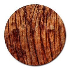 Old Brown Weathered Wood Round Mousepads