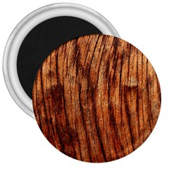 Old Brown Weathered Wood 3  Magnets