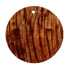 Old Brown Weathered Wood Ornament (round)