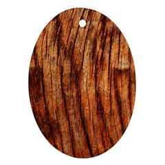 Old Brown Weathered Wood Ornament (oval)