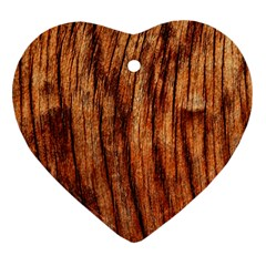 Old Brown Weathered Wood Ornament (heart)