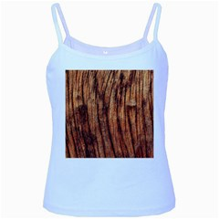 Old Brown Weathered Wood Baby Blue Spaghetti Tanks