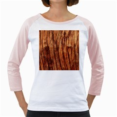 Old Brown Weathered Wood Girly Raglans