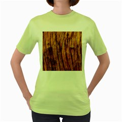 Old Brown Weathered Wood Women s Green T Shirt