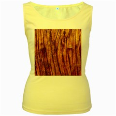 Old Brown Weathered Wood Women s Yellow Tank Tops