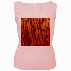 Old Brown Weathered Wood Women s Pink Tank Tops