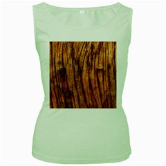 Old Brown Weathered Wood Women s Green Tank Tops