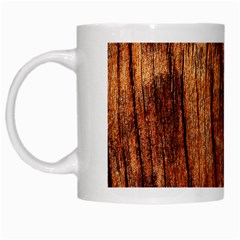 Old Brown Weathered Wood White Mugs