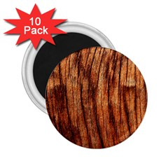 Old Brown Weathered Wood 2 25  Magnets (10 Pack)