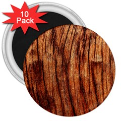 Old Brown Weathered Wood 3  Magnets (10 Pack)