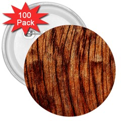 Old Brown Weathered Wood 3  Buttons (100 Pack)